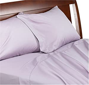 Martex 300-Thread-Count Full Flat Sheet with Bonus Full Fitted Sheet, Heather