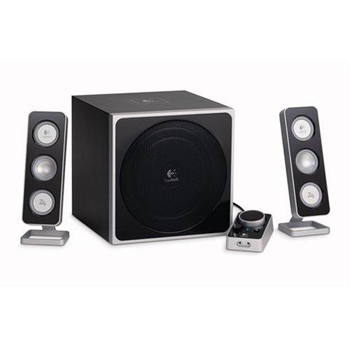 Logitech Z-4 2.1 Speaker System with Subwoofer (Black)