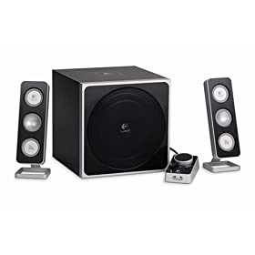 41BZ86T6ZXL. SL500 AA280  Logitech 970175 0403 Z 4 2.1 Speaker System with Subwoofer    $62 Shipped