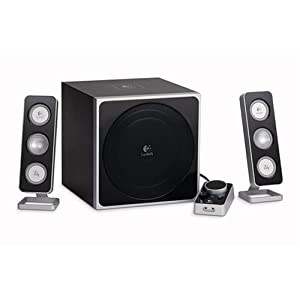 Logitech Z-4 2.1 Speaker System with Subwoofer (Black)