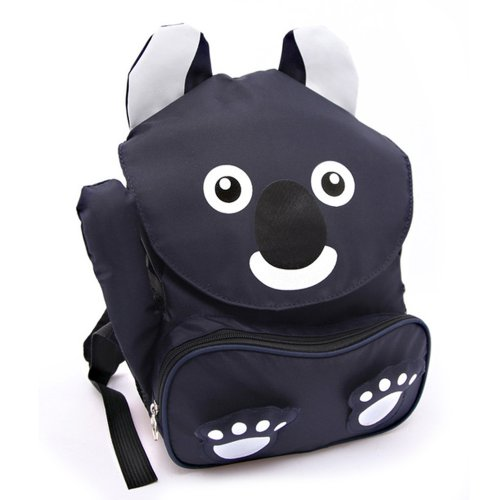 Deer Mum Children'S Backpack Cartoon Koala Design Schoolbag Toddler Kid Shoulder Bag (Black) front-584837