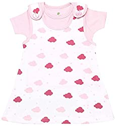 BIO KID Clothing Set for Kids (BG1I-T199-68_3-6 Months, 3-6 Months, White / Pink)