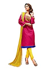 Sonal Trendz Pink Color Embroidery Semi-Stitched Suit. Festive Wear Party Wear - B0173C3GDA
