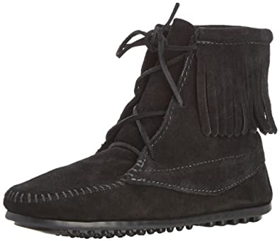 Minnetonka Ankle Hi Tramper Boot (Toddler/Little Kid/Big Kid),Black,7 M US Toddler