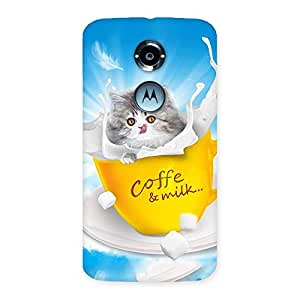 Cute Coffee Kitty Back Case Cover for Moto X 2nd Gen
