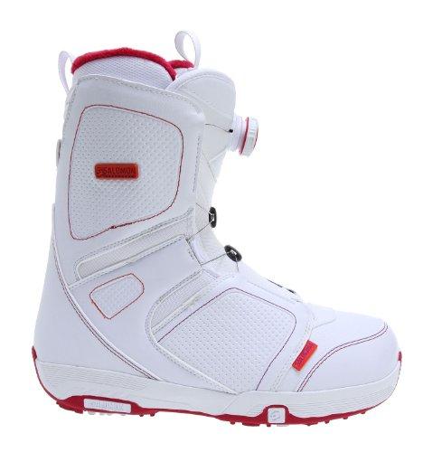 Salomon Pearl BOA Snowboard Boots White Womens Sz 10