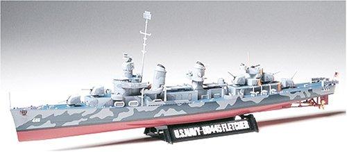 タミヤ 1/350 艦船シリーズ No.12 アメリカ海軍 駆逐艦 DD445 フレッチャー プラモデル 78012
