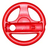 New Red Mario Kart Steering Wheel Controller for Wii Games [Electronics]