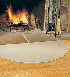 "27"" x 48"" Flame-Resistant Fiberglass Half-Round Hearth Rug"