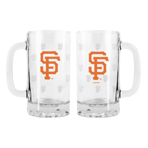 MLB San Francisco Giants 2-Pack Satin Etch Tankard Mug (Sf Giants Coffee Mug Set compare prices)