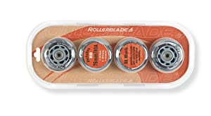 Rollerblade 06224000 000 Lot de 8 roues de roller 76 mm, 80 A (Transparent)