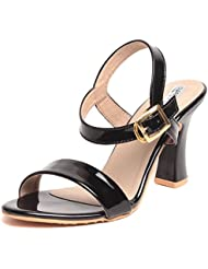Feel It Comfortable Leatherite Casual/Formal/Partywear Block Heel Footwear For Women & Girls - 5755-black-P (Black)