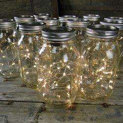 Amazon.com - Quart Mason Jars With Warm White Fairy Lights, Set Of 12