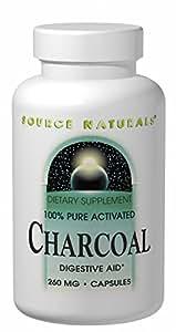 Amazon com source naturals charcoal 100 pure activated 260mg 100
