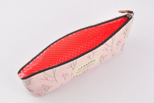 HOUSWEETY 4pcs Vintage Stationery Pencil Bag Canvas Organzier Case floral print 20x8cm