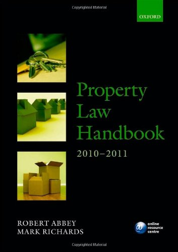 Property Law Handbook 2010-2011 (Legal Practice Course Guide)