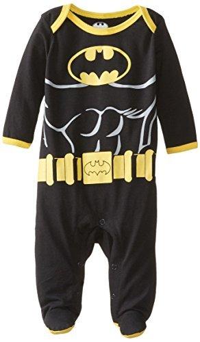 warner-brothers-bambino-baby-neonato-a-forma-di-batman-n-play-sleep-tuta-con-muscoli-nero-6-9-mesi-c