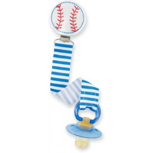Mud Pie Baseball Pacifier Clip - 1