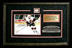 Jason Spezza Signed 8X10 Etched Mat - W//Piece Of Game Used Stick