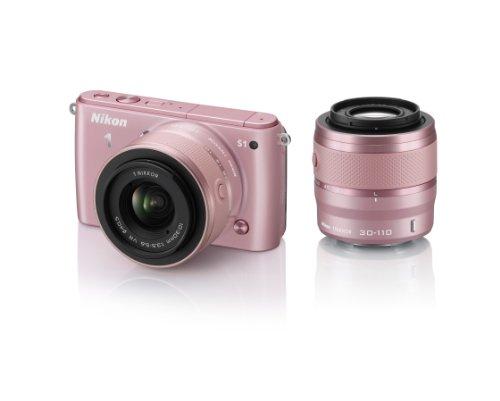 Nikon デジタル一眼カメラ Nikon 1 (ニコンワン) S1 ダブルズームキット ピンク N1S1WZPK