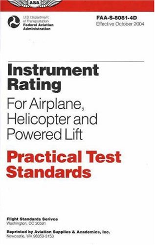Instrument Rating Practical Test Standards for Airplane,...