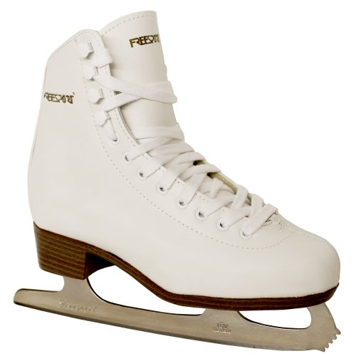 Freesport Ice Figure Skates adults W/Brwn 4 UK