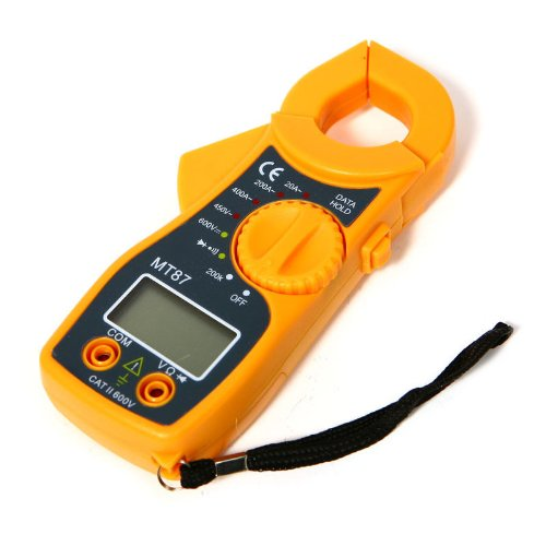 New Mini Digital Multimeter Electronic Automatic Tester Ac/Dc Clamp Meter Yellow