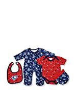 Pitter Patter Baby Gifts Conjunto (Rojo / Azul)