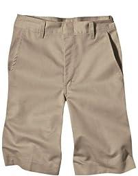 Dickies Boys\' Classic Fit 8-20 Flat Front Short - School Uniform, Khaki, 14 Husky