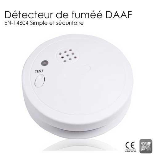 DETECTEUR de fumee, DAAF EN14604