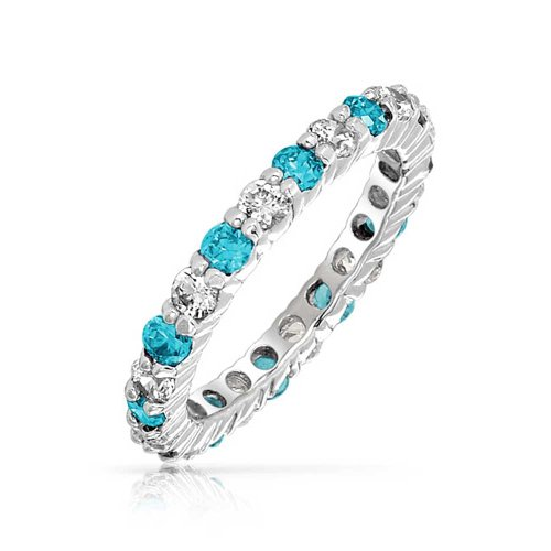 Blue Topaz Wedding Band 3 Best Bling Jewelry Silver Blue