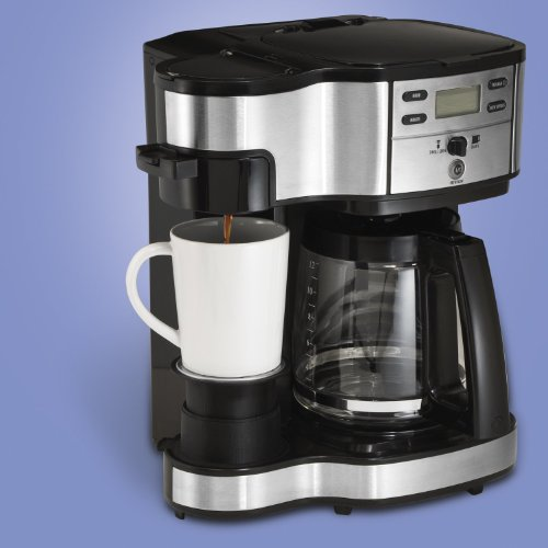 Hamilton Beach Two Way Brewer Single Serve and 12 cup Coffee Maker with Mini Tool Box (fs)