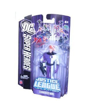 DC Super Heroes Justice League Unlimited Series 4-1/2 Inch Tall Action Figure - Elongated Man with Accessory - 1