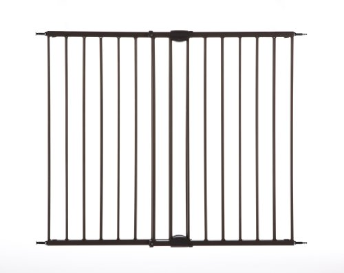 North States Industries Supergate Easy Swing and Lock Metal Gate, Matte Bronze