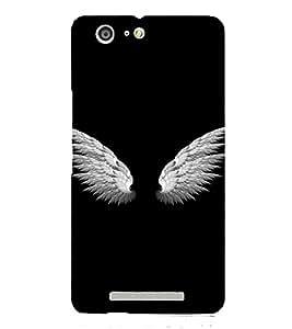 PrintVisa Angel Wings Design 3D Hard Polycarbonate Designer Back Case Cover for Gionee Marathon M5 Lite