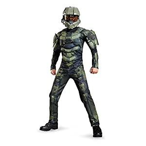 Disguise Master Chief Classic Muscle Costume, X-Large (14-16)