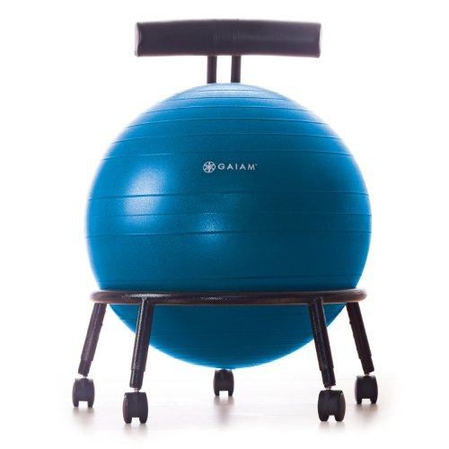 Gaiam Custom Fit Adjustable Balance Ball Chair (Ball Chair Wheels compare prices)