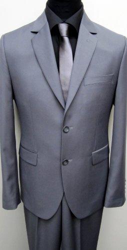 MUGA Modern Slim-fit Men's Suit 2-Piece, Gray, Size 40R (EU 50)