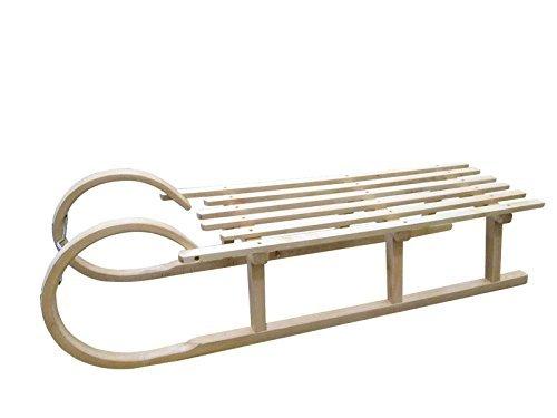 Holzschlitten - Hörnerrodel, 120cm lang, mit Zugband, hohe Qualität
