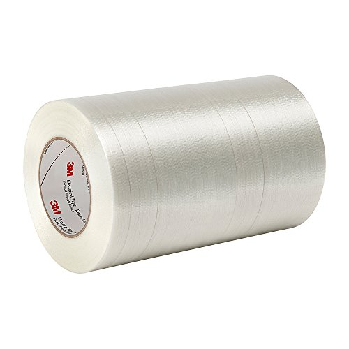 "Tapecase 1139 11"" X 60Yd Clear Polyester Film/Glass Filament 3M Reinforced Electrical Tape 1139, 311 Degrees F Performance Temperature, 0.0065"" Thickness, 60 Yd Length, 11"" Width"