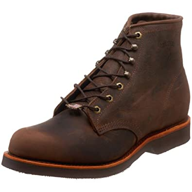 "Chippewa Men's 20065 6"" Rugged Handcrafted Lace-Up Boot,Chocolate Apache,6 D US"