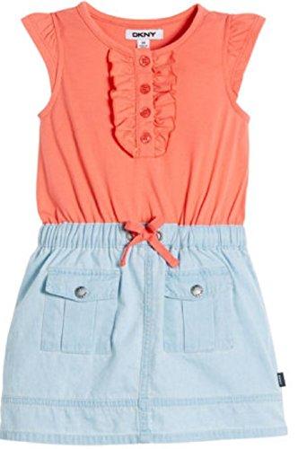 dknyr-girls-denim-dress-coral-size-3t