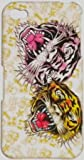 TWO FACE TIGER DESIGN ED HARDY STYLE TYPE HARD CASE BACK COVER FOR IPHONE 4 4S/FREE SCREEN PROTECTOR