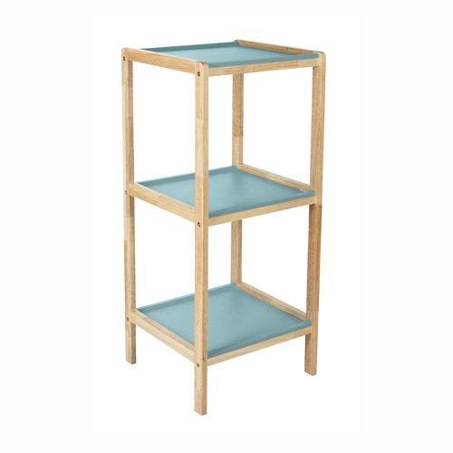 Badezimmer-Regal, 2 Fächer, Scandi, 3-fach, blau jetzt kaufen