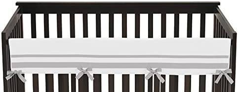 White and Gray Modern Hotel Long Front Rail Guard Baby Boy or Girl Teething Cover Protector Unisex C