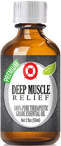 Deep Muscle Relief Blend 100% Pure, Best Therapeutic Grade Essential Oil -60ml / 2 (oz) Ounces - Comparable to DoTerra's Deep Blue & Young Living's PanAway Blend - Wintergreen, Peppermint, Chamomile Blue, Eucalyptus, Camphor