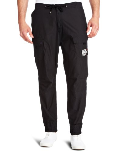 Duck And Cover Santiago Relaxed Mens Cargo Trousers Black W32 IN