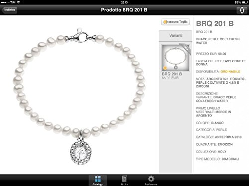 bracciale donna gioielli Comete Perla classico cod. BRQ 201 B