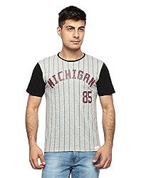 OHM MICHIGEN Baseball Tee (FWOHM-WG-15_Mid Grey_X-Large) (FWOHM-WG-15XL)