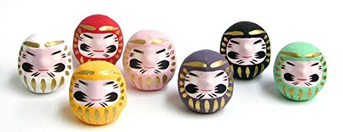Miniature Daruma Doll (Japanese Good-Luck Charm) Green